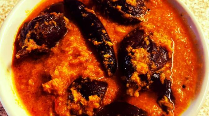 Recipe – Eggplant Curry / Spicy Baingan Curry / Brinjal Curry