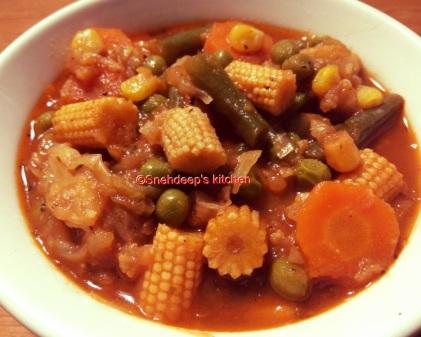 chinnese style mix veg
