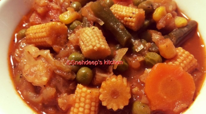 Recipe: Chinese Style Mixed Vegetables
