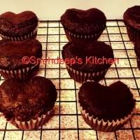 Recipe - Eggless Chocolate Walnut Muffins / Chocolate Cupcakes