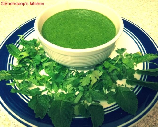 Recipe – Green Chutney or Coriander Mint Chutney