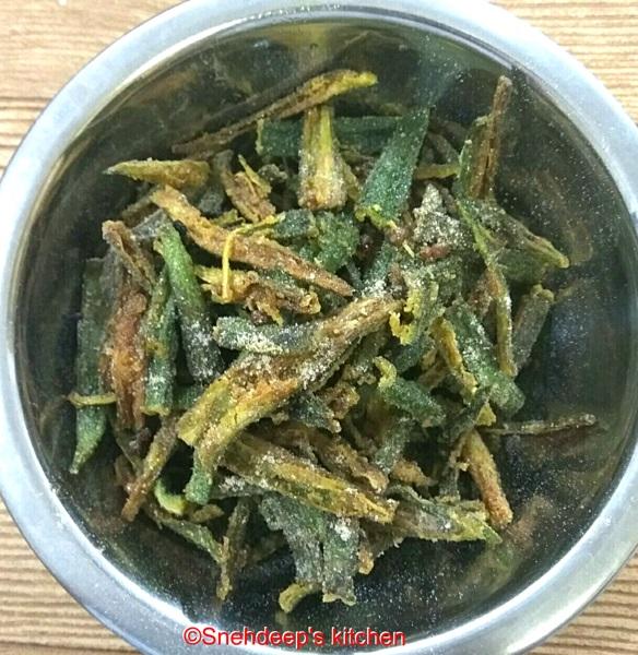 Recipe – Crispy bhindi or Kurkure Bhindi