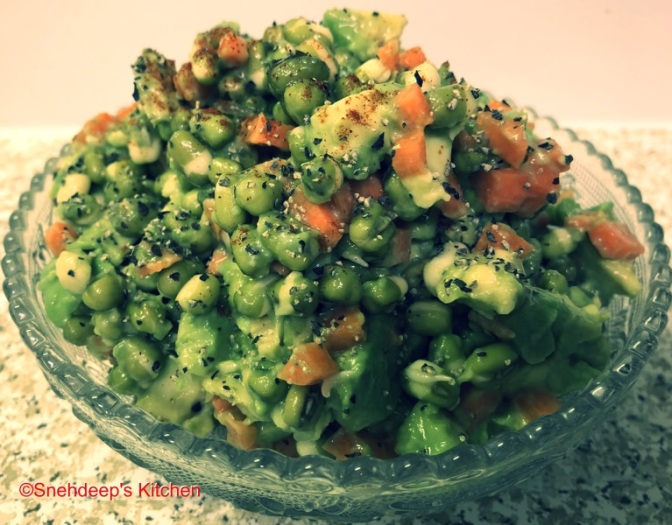 Recipe – Green Gram Sprouts and Avocado Salad