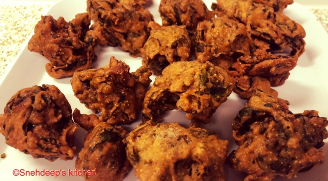 Recipe – Spinach Pakoda / Spinach Fritters