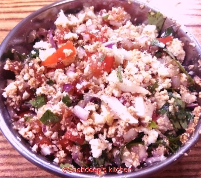 Recipe – Cooked Paneer Bhurji or Paneer Bharta