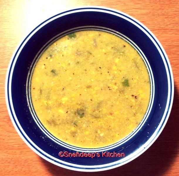 Recipe – Sweet Corn Soup