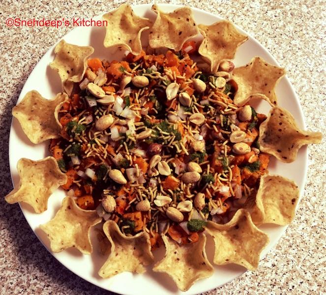 Recipe – Sweet Potato Scoop Chaat / Tostitos Scoop Chips Chaat