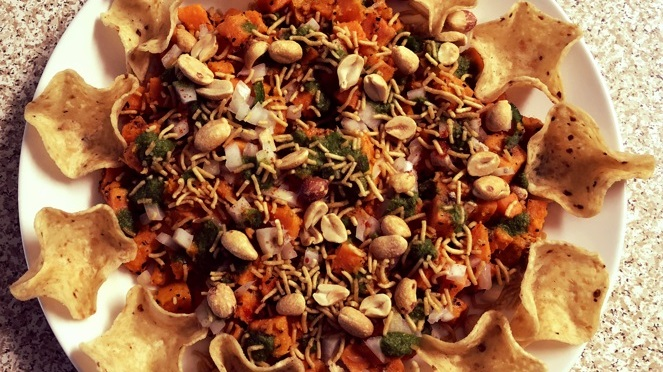 Recipe – Sweet Potato Scoop Chaat / Tostitos Scoop Chips Chaat