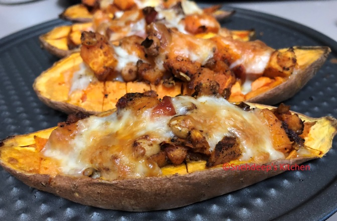 Recipe – Sweet Potato Stuffed Boat