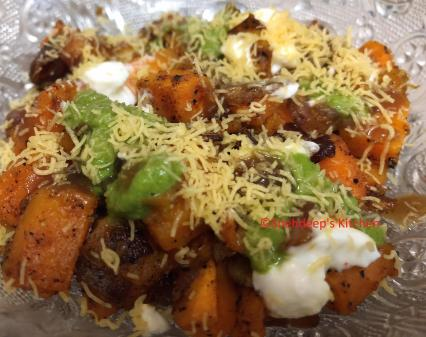 sweet potato chaat
