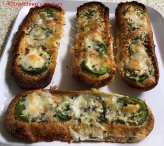 jalepeno cheese toast