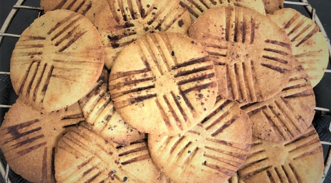 Recipe – Bajra Chocolate Mathri / Pearl Millet Crispy / Healthy baked mathris