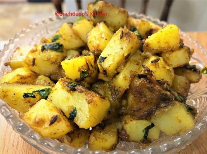 Recipe – Jeera Aloo / Roasted Cumin Potatoes