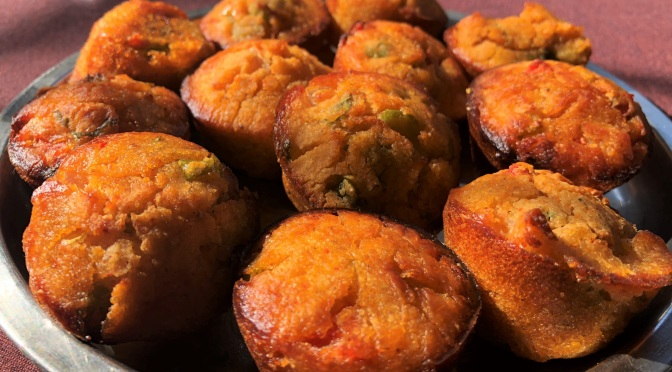 Recipe – Rice Appe in Muffin tray / Baked Rice Appe