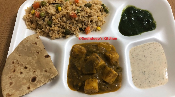 Home-Cooked North Indian Thali – 2