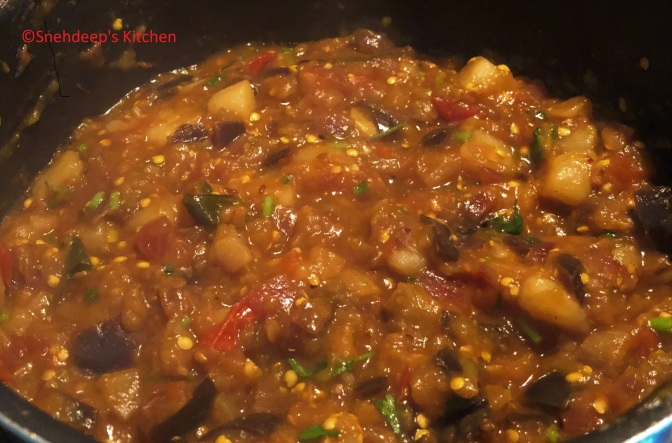 Recipe – Potato Brinjal Curry