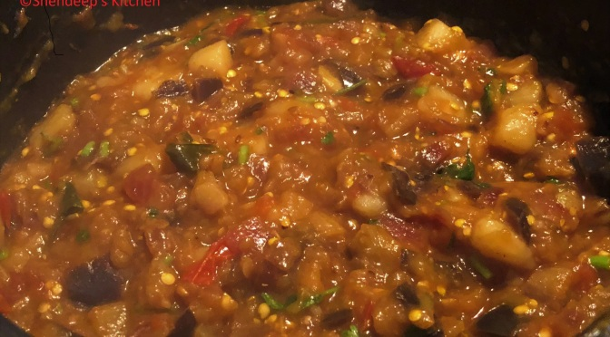 Recipe – Potato Brinjal Curry