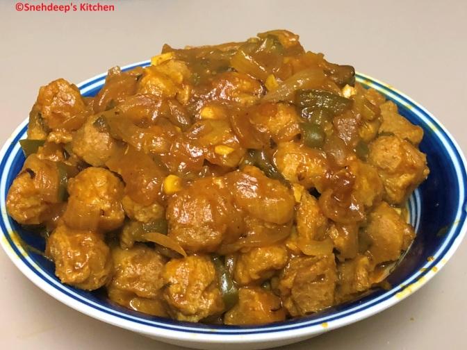 Recipe – Soya Bean Chunks' Manchurian