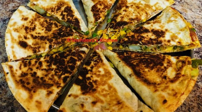 Recipe – Mexican Vegetable Cheese Quesadillas